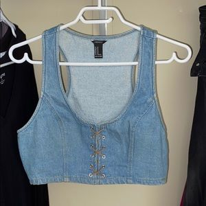 Forever 21 Vintage Jean crop top
